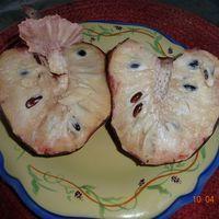 Плод анноны сетчатой в разрезе